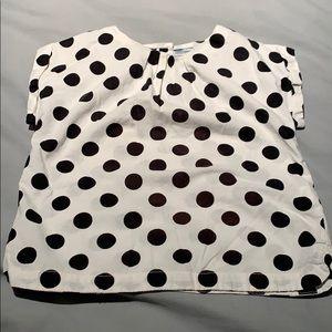 Girls Baby Gap polka dot top, Size 4